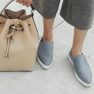 Vince Paeyre Pointed Toe Slip On Sneakers Truffle